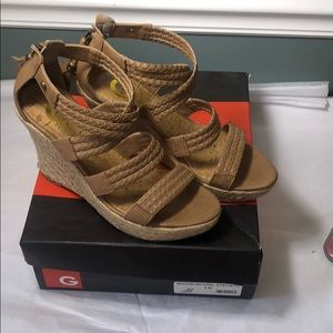 G by Guess espadrille wedge sandals